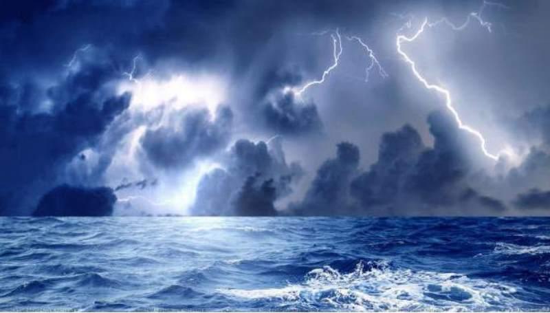рисунок про шторм
