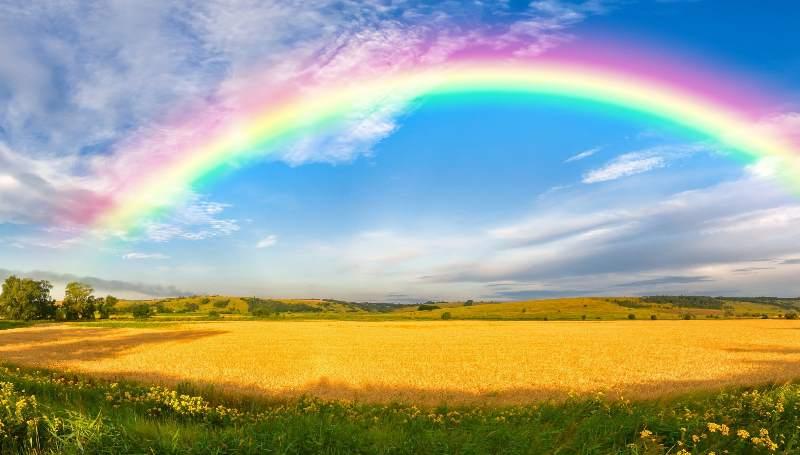 радуга на небе